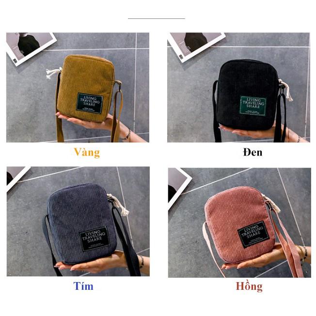 Túi tote vải bố trơn đi học đeo chéo giá rẻ TX59