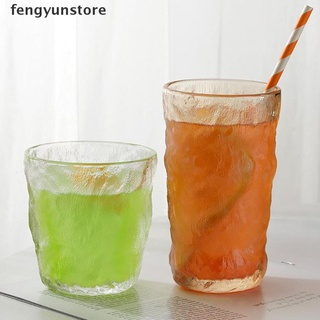 fengyunstore Ins Japanese Style Rain Fog Glacier Glass Crystal Cup Fruit Cup Milk Beer Cup .