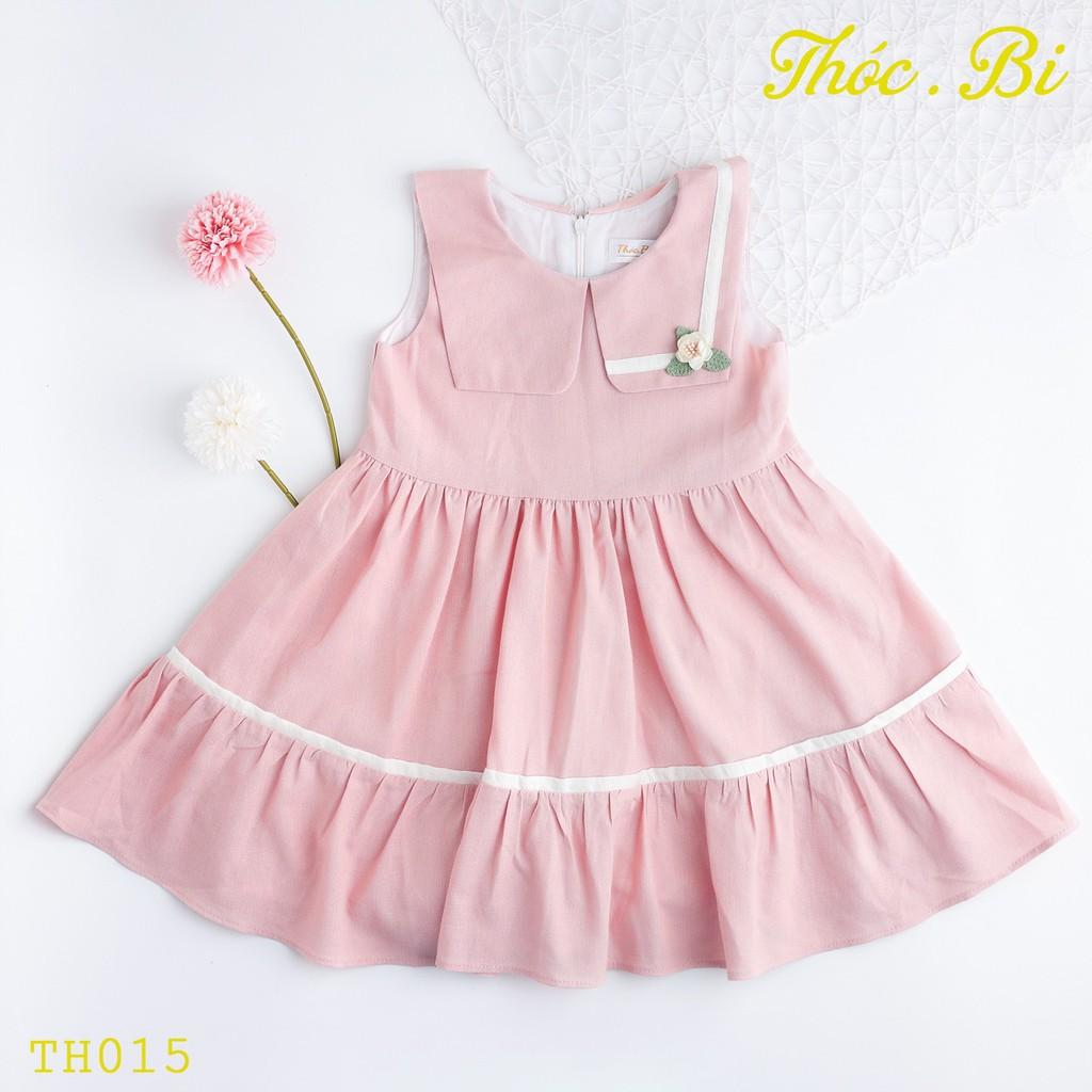 Đầm bé gái, 1-10 tuổi, xòe đính hoa, vải xịn