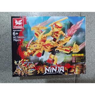 Xếp hình Ninjago Tenma 6205 (4 hộp) cực dễ chơi, quà tặng hè ý nghĩa cho bé