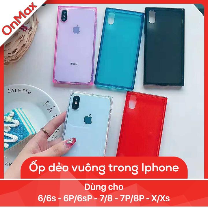 ỐP LƯNG DẺO VUÔNG TRONG IPHONE