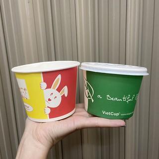 50 cốc giấy 12oz 360ml có nắp đựng canh cơm cháo ly giấy đựng kem sốt có nắp LB12 - Paper cup Hộp giấy thumbnail