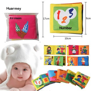 ★Hu Intelligence Development Cloth Early Learning Book Educational Toy for Kids Baby