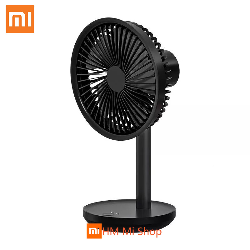 Xiaomi SOLOVE 5W USB Desktop Table Fan 4000mAh USB Rechargeable 3 Modes Wind Speed Cooling Oscillating Black Fan 3Colors