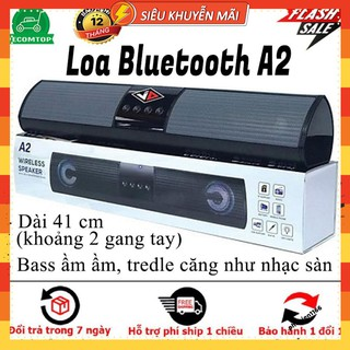 Loa Bluetooth Speaker A2 Dáng Dài 2 Loa Cực Đỉnh, Kểu Dáng Sang Trọng Hỗ Trợ Thẻ Nhớ thumbnail