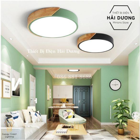 Đèn LED Ốp Trần Viền Gỗ OT-80112 - 4 Màu - 40cm Phong Cách Hiện Đại - 3 Chế Độ Ánh Sáng - Energy Green Lighting