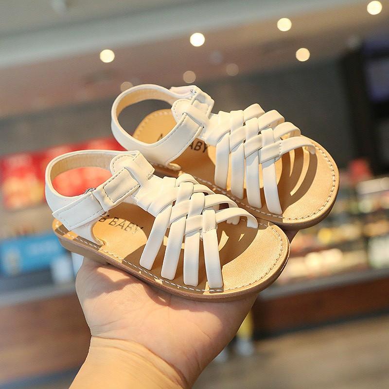 Dép sandal cho bé gái ❤️FREESHIP❤️ Dép sandal quai đan xinh xắn cho bé gái mùa hè mềm mại dễ thương đi học đi chơi