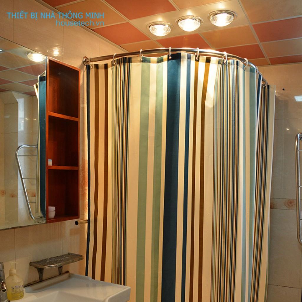 Rèm nhà tắm chống thấm họa tiết kẻ sọc giá rẻ
