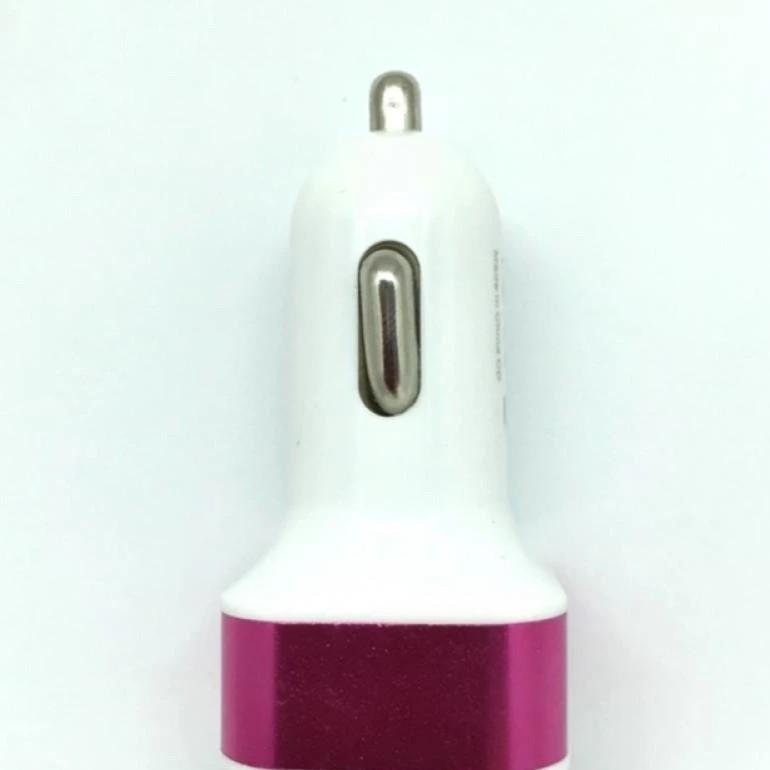 Đầu sạc điện thoại trên ô tô (trắng hồng)