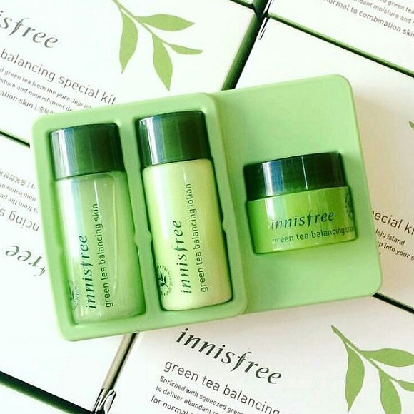 Bộ Innisfree Green Tea Balancing Special Kit 3 items