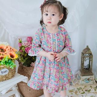 Váy bé gái ⚡️FREESHIP⚡️ Váy cho bé gái tiểu thư tay lỡ cho bé từ 8kg đến 25kg