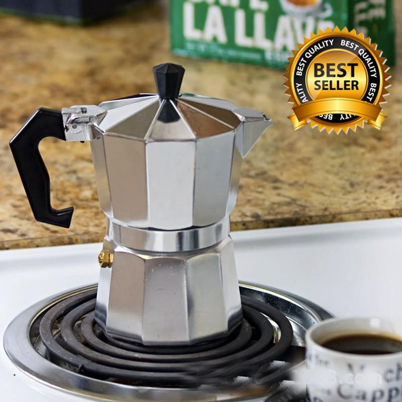 Ấm pha cà phê Moka Express 3TZ (3 cup), bình pha cà phê kiểu Ý