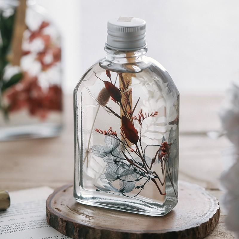 ดอกไม้นิรันดร์ลอยแจกันพืชตัวอย่างขวดแก้วกล่องของขวัญสก์ท็อปตกแต่งของขวัญสาวของขวัญ