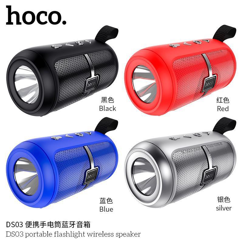 [CHÍNH HÃNG] Loa Bluetooth Thể Thao Hoco DS03 Bản Nâng Cấp Mới Tích Hợp Đèn Pin