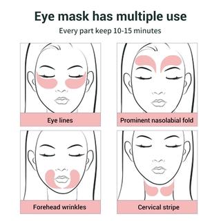 Hình ảnh Set 60 mặt nạ LANBENA collagen hoa hồng chống nếp nhăn cho mắt-6