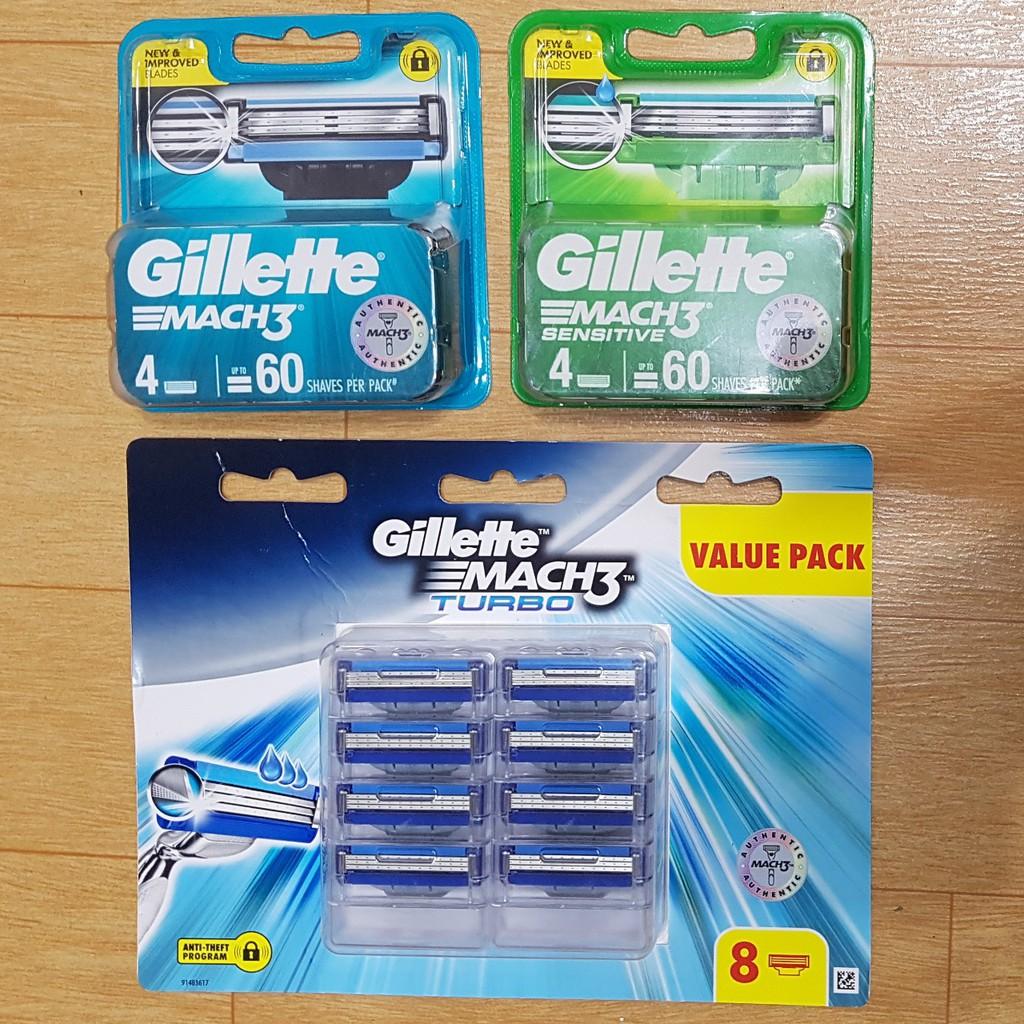 Hộp lưỡi dao cạo râu Gillette Mach 3