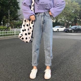 [ Sẵn L XL 2XL 3XL] Quần Jean Baggy rách / Quần Jeans baggy ulzzang / có ảnh thật bigsize big size