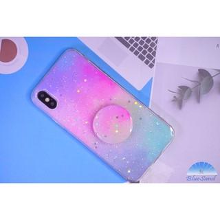 Ốp điện thoại màu xanh dương cho Oppo A3S F1S A7 A9 2020 A92 mềm cầu vồng Plus Popsockets thumbnail