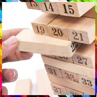 [ẢNH THẬT] Bộ đồ chơi rút gỗ 48 miếng nặng 1kg giải trí Tiện Lợi
