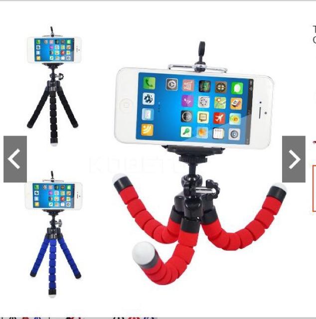 GIÁ ĐỠ TRIPOD BẠCH TUỘC ĐA NĂNG - 3 chân thân xốp , học online , xem phim, giá kẹp đỡ điện thoại trên bàn . đa năng