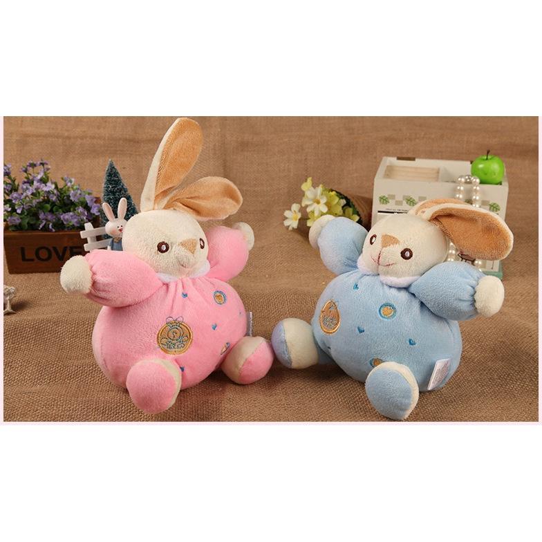 ღ☭Bunny Rabbit Rattle Baby Toy Lovey Plush Comporter Toy