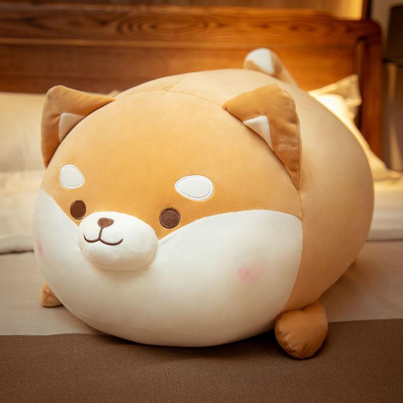 búp bê Shiba Inu dễ thương đồ chơi sang trọng Corgi gối ngủ giường quà tặng siêu mềm cho bé gái