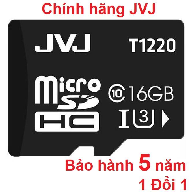 Thẻ nhớ JVJ 16G U3 C10 tốc độ cao - Chuyên dụng cho camera