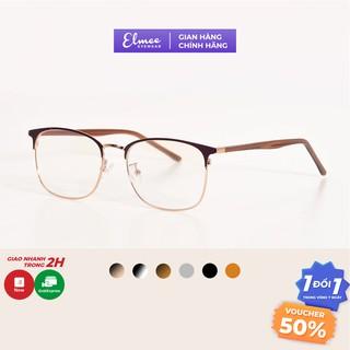 Gọng kính nửa viền mắt vuông bầu kim loại kiểu dáng thời trang nhiều màu Elmee phù hợp cả nam và nữ E1009 thumbnail