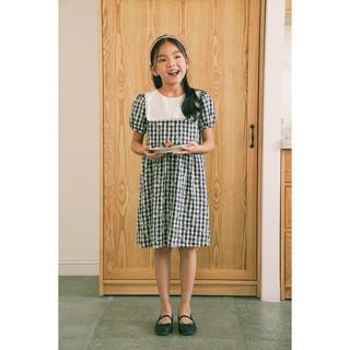 Đầm bé gái thiết kế - Odysee Dress - Gingham Navy