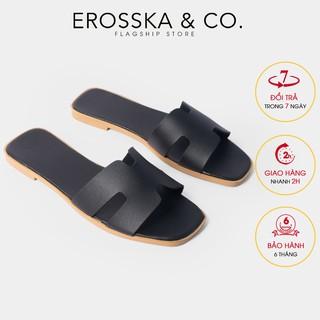 Dép đi biển thời trang Erosska 2021 quai chư H ma u đen - DE036 thumbnail