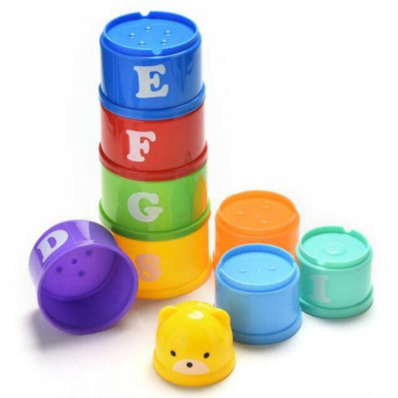 Bộ đồ chơi cốc xếp chồng lên nhau dành cho bé | Đồ chơi giáo dục bảng chữ cái và số dành cho trẻ