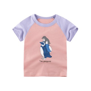 Áo thun bé gái 27Home in hình dễ thương chất liệu 100% cotton an toàn cho bé hàng chuẩn xuất Âu Mỹ