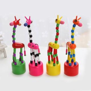 Hươu cao cổ đồ chơi bằng gỗ siêu thú vị dành cho các bé