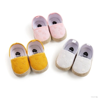 BABYKING Fashion Baby Girl Breathable Anti-Slip Embroidery Flower Shoes Casual Toddler Soft Soled First Walkers