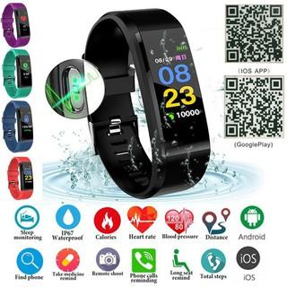 Đồng hồ đeo tay thông minh bluetooth ID115 Plus không thấm nước màn hình cảm ứng theo dõi nhịp tim tiện dụng