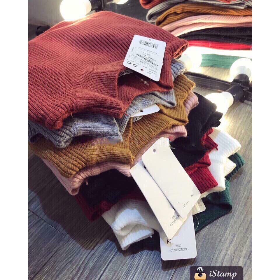 Áo len tơ kéo cổ 3 PHÂN nhiều màu siêu đẹp