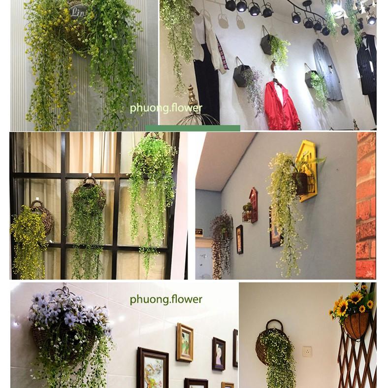 Dây Hoa giả Treo tường loại dài 85cm và 110cm hoa trang trí nội thất cực đẹp