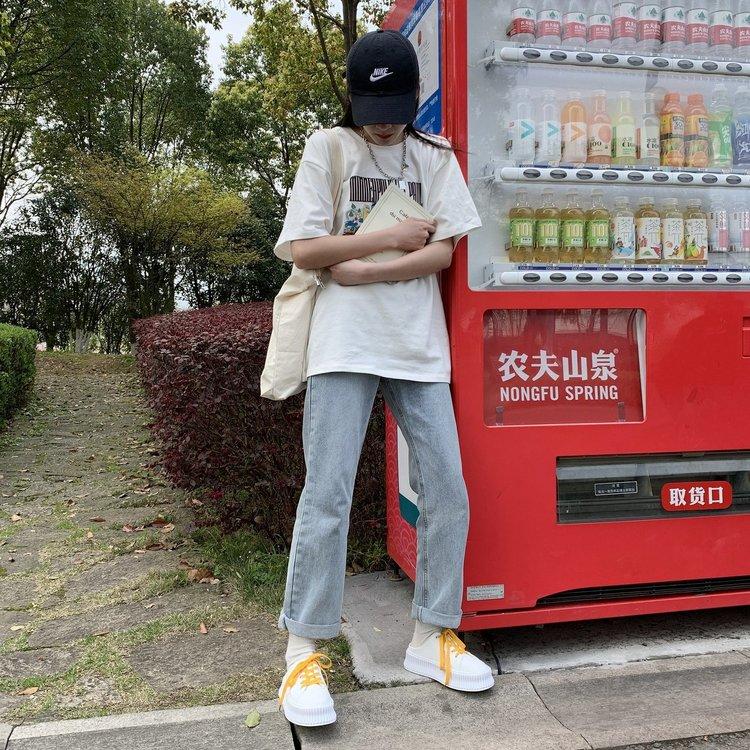 Giày Vải Canvas Đế Dày Phối Dây Chéo Kiểu Hàn Quốc Cá Tính