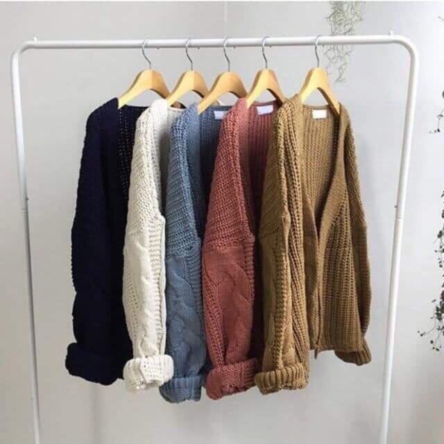 Áo cardigan len vặn thừng siêu đẹp (#411)