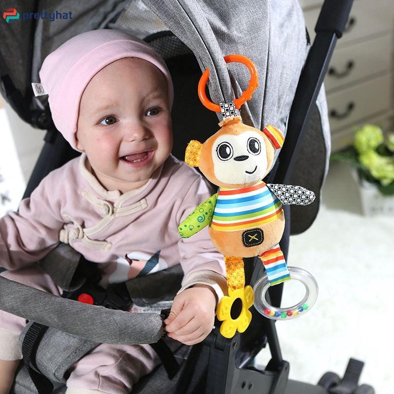 Baby Stroller Hanging Bell Animal Music Car Hanging Early Education Puzzle PHT