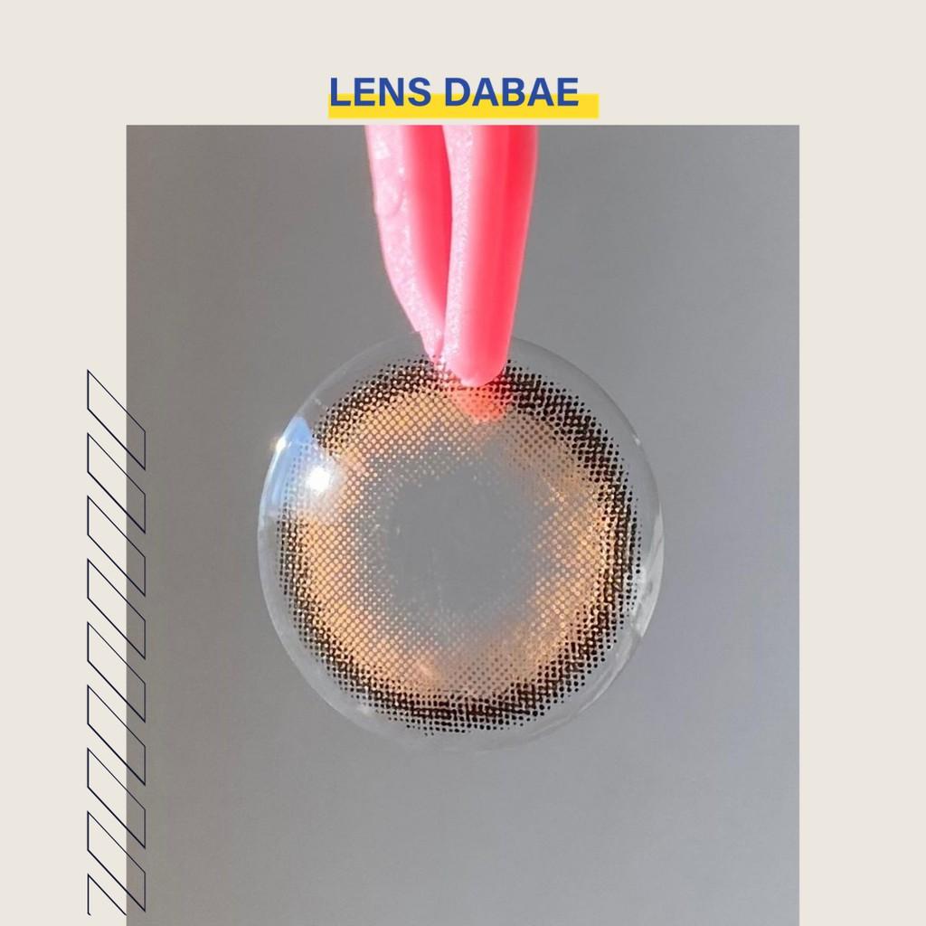 kính áp tròng cận Hàn Quốc lens mắt nâu tự nhiên trong veo brown giãn nhẹ ONLY U DABAE