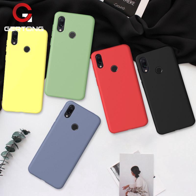 Ốp điện thoại silicon màu trơn nhám cho Xiaomi Redmi 7 Note 7 6 Pro Mi A2 8