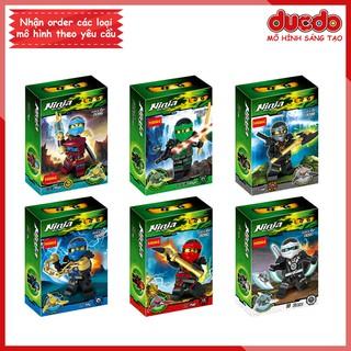 Combo 6 nhân vật Ninjago DECOOL 0086-0091 Đồ chơi Lắp ghép Xếp hình Minifigures Mini Ninja Mô hình thumbnail