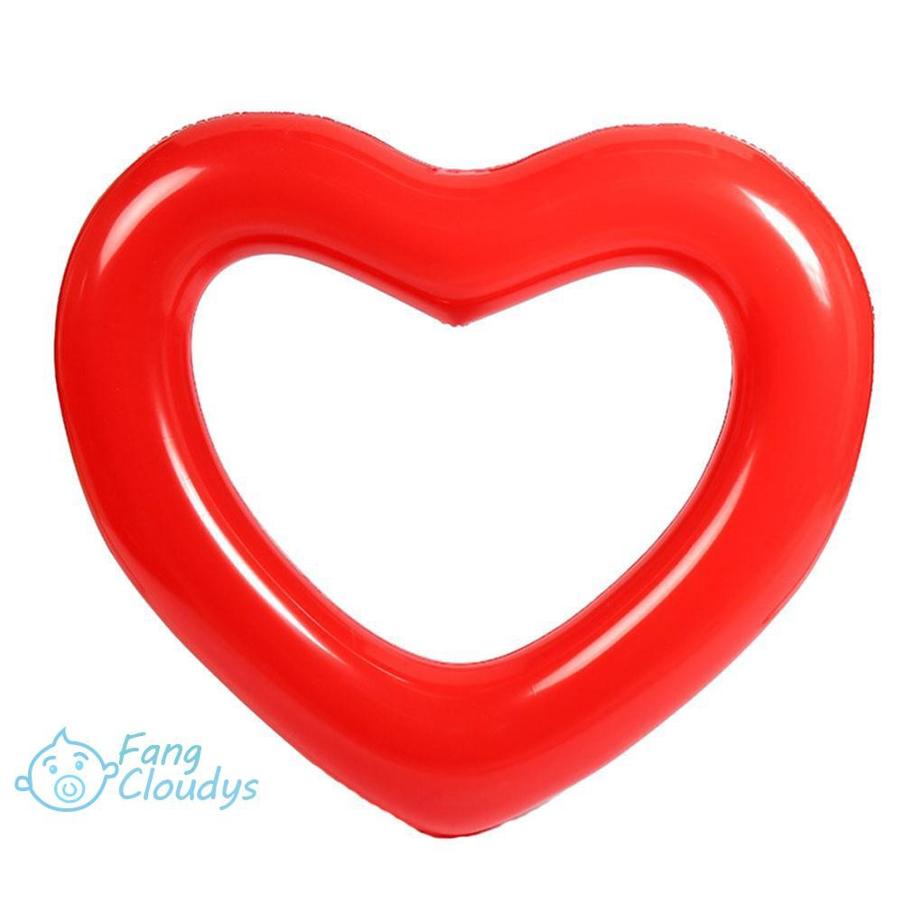 FANC★Thicken PVC Water Inflatable Love Shape Children Underarm Swimming Ring
