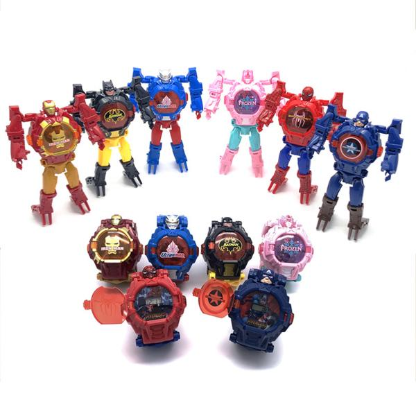 Kid Toy Children Cool Cartoon Movie Figure Electronic Watch with Light
