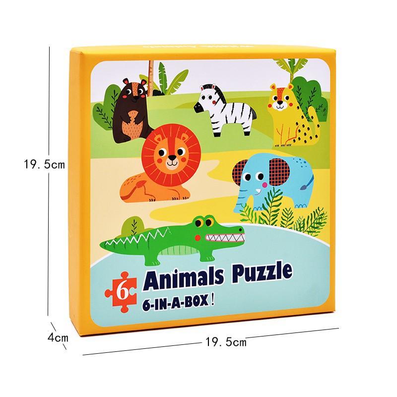 Bộ đồ chơi Câu đố Bằng Gỗ ghép Hình 6 trong 1_Đồ chơi gỗSmartKids