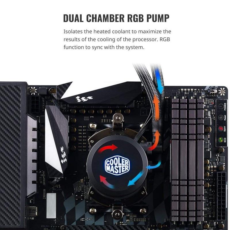 [Mã 267ELSALE hoàn 7% đơn 300K] Tản nước AIO Cooler Master MasterLiquid ML240L RGB