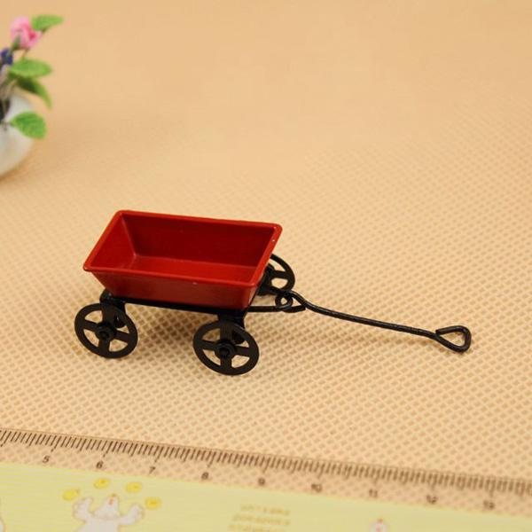 HW Miniature Metal Garden Cart for 1:12 Scale Doll House