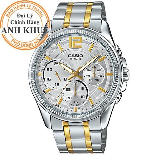 Đồng hồ nam dây kim loại Casio chính hãng Anh Khuê MTP-E305SG-9AVDF - 14381240 , 896836205 , 322_896836205 , 2938000 , Dong-ho-nam-day-kim-loai-Casio-chinh-hang-Anh-Khue-MTP-E305SG-9AVDF-322_896836205 , shopee.vn , Đồng hồ nam dây kim loại Casio chính hãng Anh Khuê MTP-E305SG-9AVDF