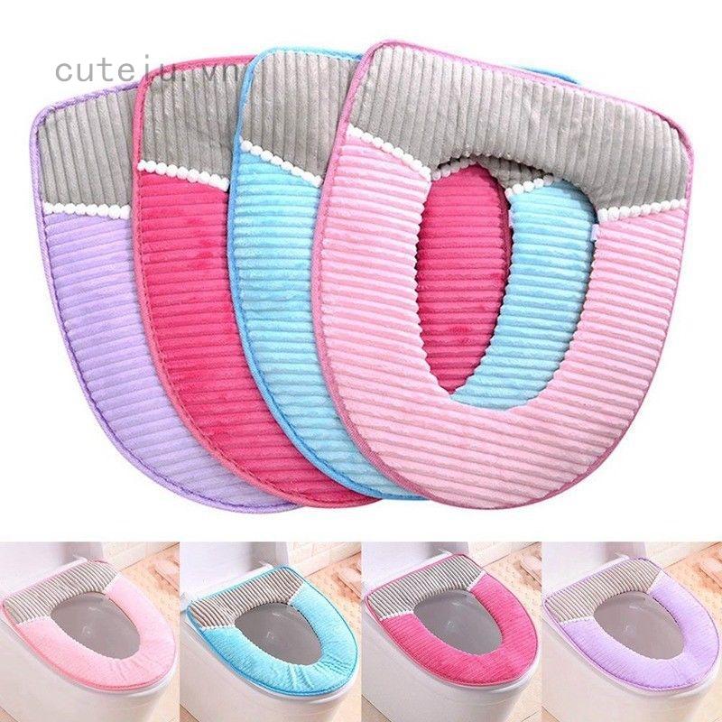 Miếng đệm lót bồn vệ sinh mềm mại giữ ấm có thể giặt được tiện dụng